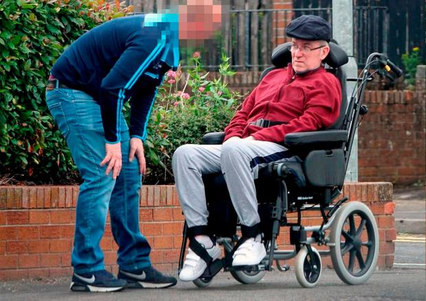 Murray is spotted in his home town of Strabane after a Belfast judge ruled he was too ill to be extradited