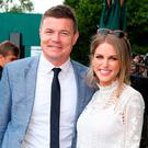 Brian O'Driscoll and Amy Huberman. Photo: PA