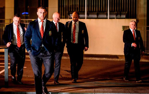 Sean O'Brien of the British & Irish Lions arrives at New Zealand Rugby Offices in Wellington for a judicial hearing after being cited for dangerous play during the second Test of the NZ Lions Series, held at Westpac Stadium, Wellington. Photo by Mark Tantrum/Sportsfile
