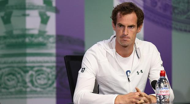 Britain's Andy Murray speaks during a press conference at The All England Tennis Club in Wimbledon. JED LEICESTER/AFP/Getty Images)
