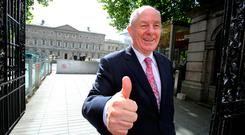 Michael Ring, the newly appointed Minister for Rural Affairs, at Leinster House. Photo: Tom Burke