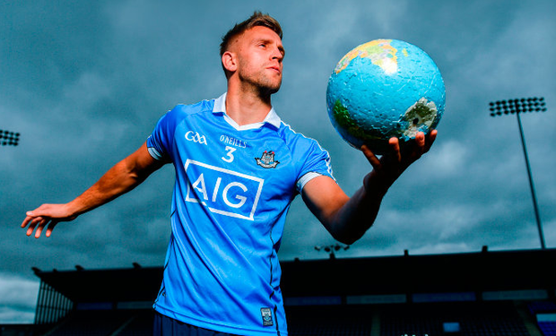 Dublin footballer Johnny Cooper in Parnell Park at the launch of AIG Insurance's latest travel insurance offering, featuring a 10% online discount, single trip insurance from only €4.52 and annual multi-trip holiday insurance from only €1.98 per month. Photo: Sportsfile