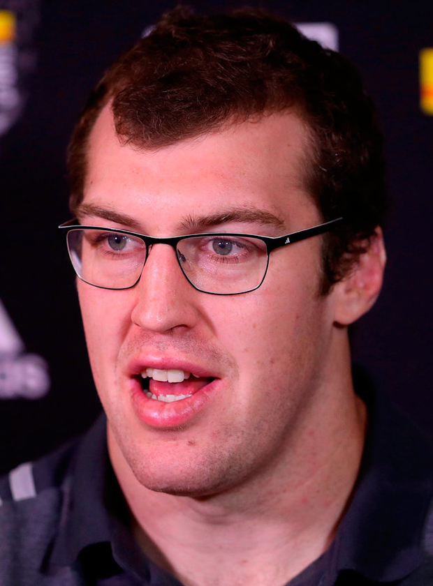 New Zealand's Brodie Retallick during a press conference at the Heritage Hotel, Auckland. Photo: PA Wire