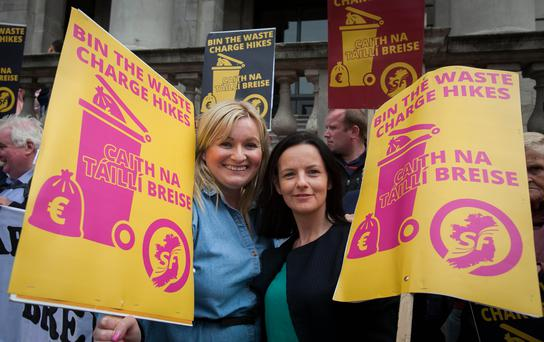 Councillors Noeleen Reilly and Cathleen Carney Boud. Photo: Gareth Chaney Collins