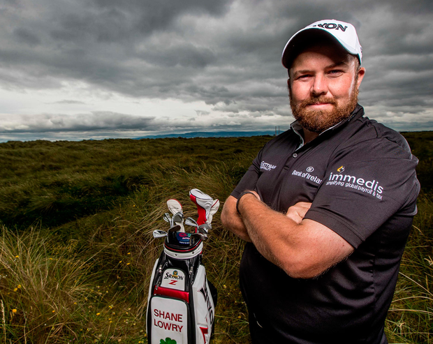 Shane Lowry at the launch of his partnership with Immedis at St Anne's Golf Club yesterday. Photo: ©INPHO/Morgan Treacy