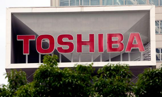 Toshiba is considering listing the business in Switzerland or a potential trade sale. Photo: AP