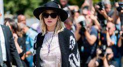 Jennifer Lawrence outside Dior during Paris Fashion Week - Haute Couture Fall/Winter 2017-2018 : Day Two on July 3, 2017 in Paris, France. (Photo by Christian Vierig/Getty Images)