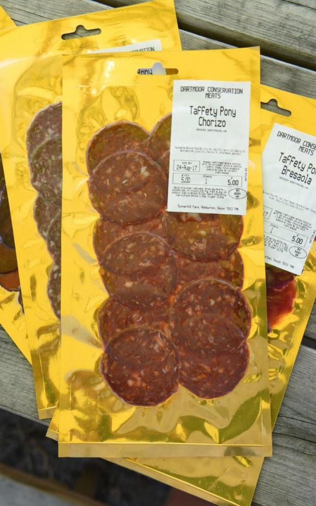 Pony chorizo made by Dartmoor Conservation Meat Credit: Jay Williams for The Telegraph