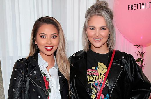 Aisling Chan and Niamh Webb O'Rourke at the PrettyLittleThing.com 'Love From The West Coast launch at The Morgan Hotel Penthouse, Dublin. Picture: Brian McEvoy