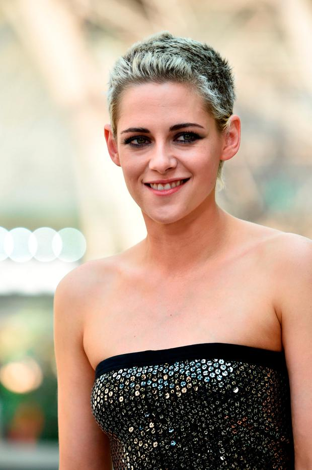 Kristen Stewart Turns Heads In Sequin Strapless Jumpsuit