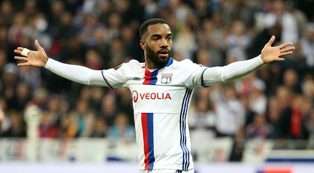 Alexandre Lacazette of Lyon during the UEFA Europa League, semi final second leg match between Olympique Lyonnais (OL) and Ajax Amsterdam at Parc OL on May 11, 2017 in Lyon, France. (Photo by Jean Catuffe/Getty Images)