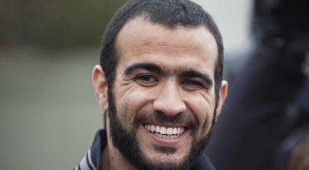 Omar Khadr smiles after being released on bail in May 7, 2015