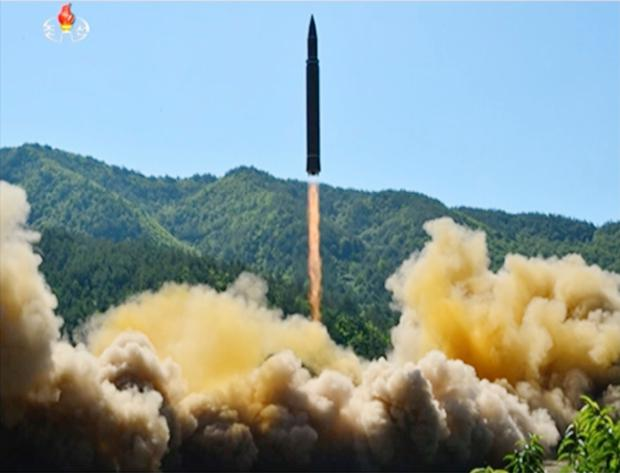 What was said to be the launch of a Hwasong-14 intercontinental ballistic missile, ICBM, in North Korea's northwest