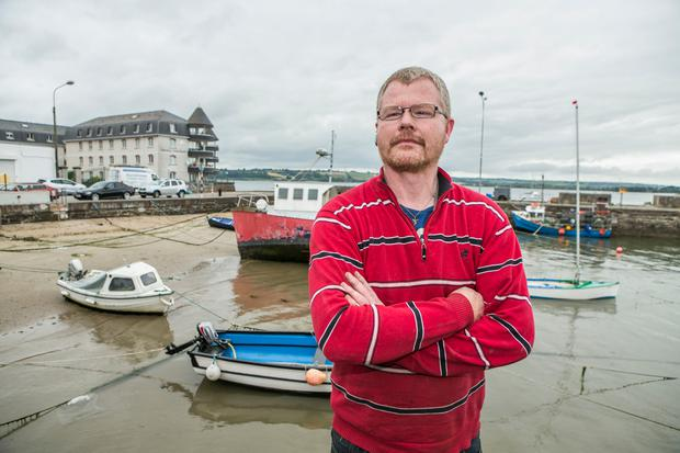 Richard Satchwell ,Tina's husband pictured in Youghal Harbour near their home on Grattan Street Photo: Kyran O'Brien