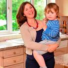 Chrissie Russell with her son Tom. Photo: Pacemaker