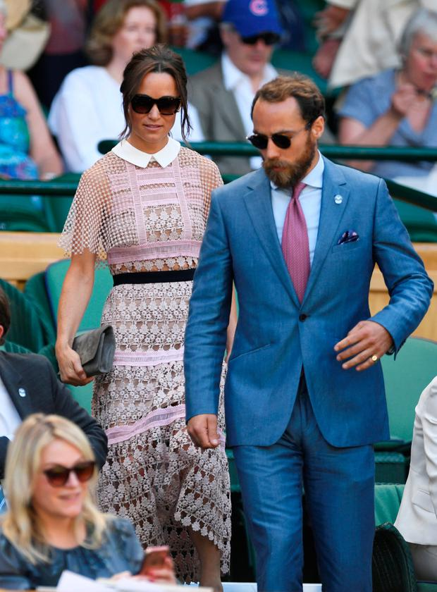Pippa Middleton and James Middleton in the stands on centre court REUTERS/Tony O'Brien