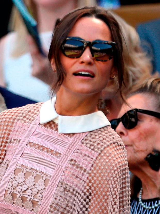 Pippa Middleton in the royal box of centre court on day three of the Wimbledon Championships at The All England Lawn Tennis and Croquet Club, Wimbledon