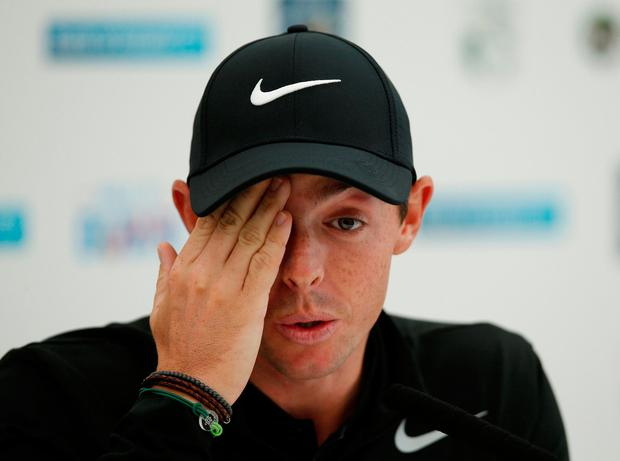 Rory McIlroy during his press conference