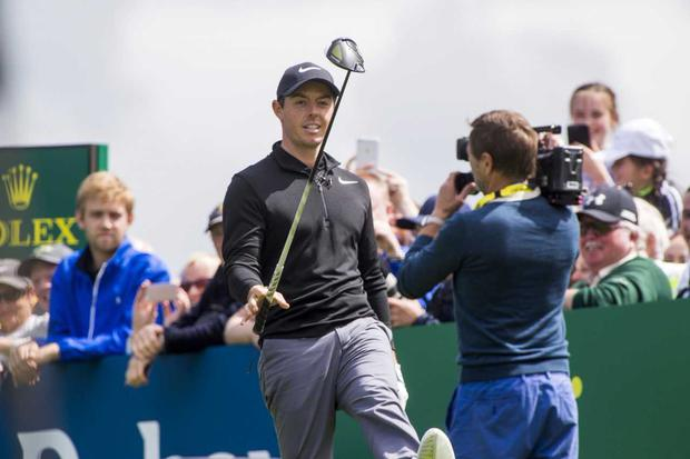 Rory McIlroy at the Irish Open ProAm in Portstewart. Pic: Colin O'Riordan