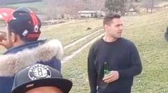 Ben Te'o was pictured having a beer on down day for the Lions squad