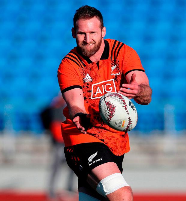 New Zealand's Kieran Read during a training session at The Trust Arena, Henderson. Photo: PA