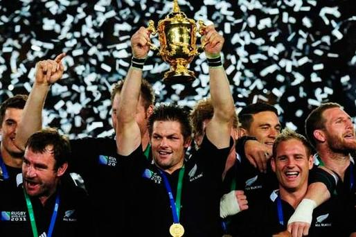 England staged the last Rugby World Cup in 2015, which was won by New Zealand