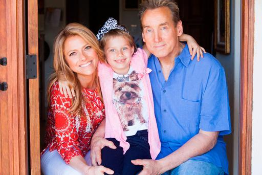 Modern family: Writer Rachel Hope with her daughter Grace and co-partner Paul