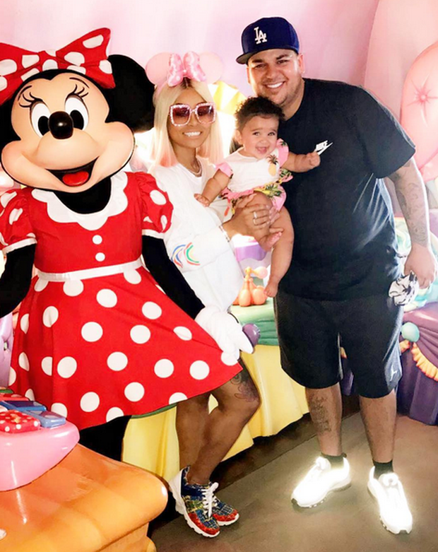 Rob Kardashian, Blac Chyna and their daughter Dream on Father's Day. Image: BlacChyna/Instagram