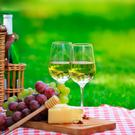 A picnic - with wine - is a lovely way to meet up with friends