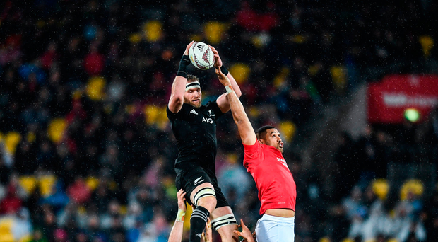 Kieran Read will lead his side out for his 100th international in tomorrow's third test. Photo: Sportsfile