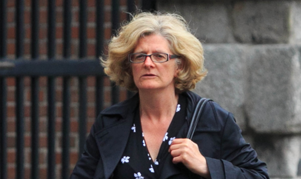 Fiona Ward, at the Disclosures Tribunal in Dublin yesterday, was questioned about the report on Sgt Maurice McCabe. Picture: Collins
