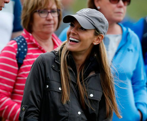 Northern Ireland's Rory McIlroy's wife Erica Stoll watches on during the first round at the Irish Open. Picture: Reuters/Paul Childs