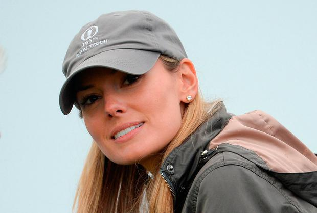Northern Ireland's Rory McIlroy's wife Erica Stoll watches on during the first round at the Irish Open. Picture: Oliver McVeigh/Sportsfile