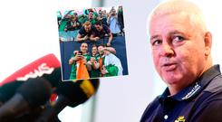 Lions boss Warren Gatland says the Irish know how to beat the All Blacks