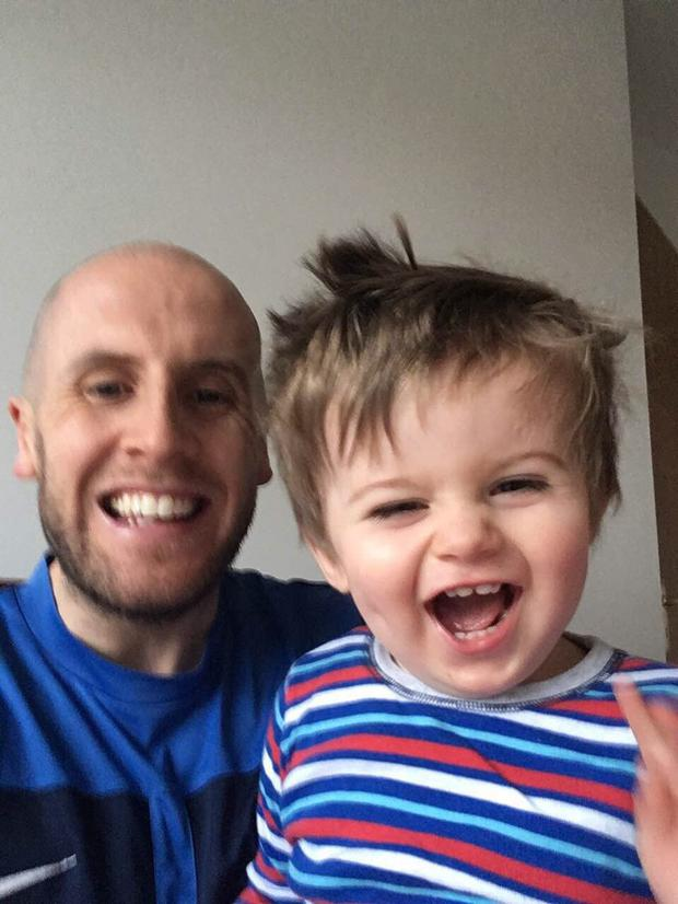 Brian Quinn was diagnosed with cancer soon after welcoming son Conor, now 20 months.