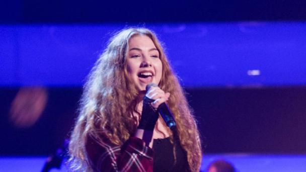 Zena Donnelly during her audition for The Voice Kids UK