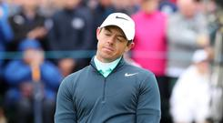 Defending champion Rory McIlroy missed the cut in the Dubai Duty Free Irish Open on Friday