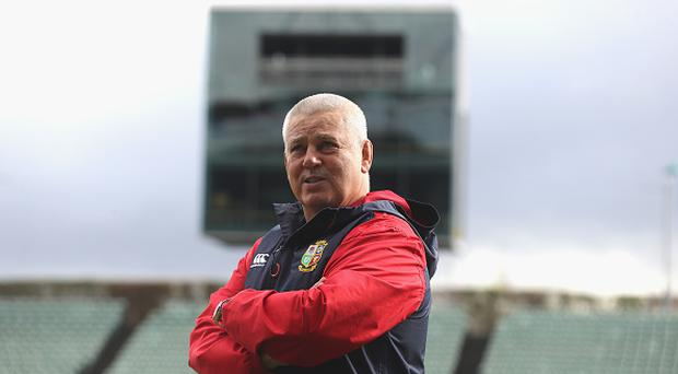 Warren Gatland, the Lions head coach, looks on during the British & Irish Lions training session at QBE Stadium on July 6, 2017 in Auckland, New Zealand. (Photo by David Rogers/Getty Images)