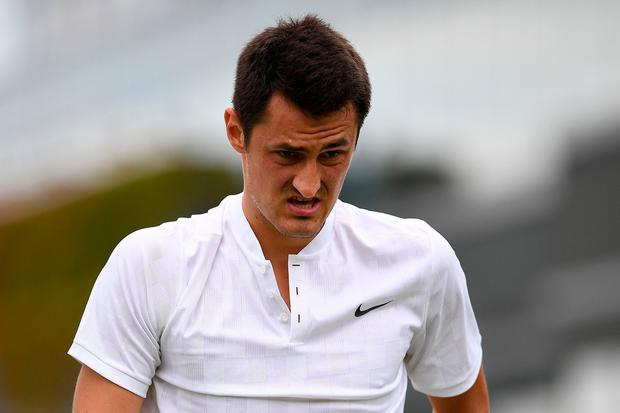 Bernard Tomic was dumped by his tennis racquet sponsor faster than the bed-hopping activities in 'Love Island'. Photo credit: Getty Images