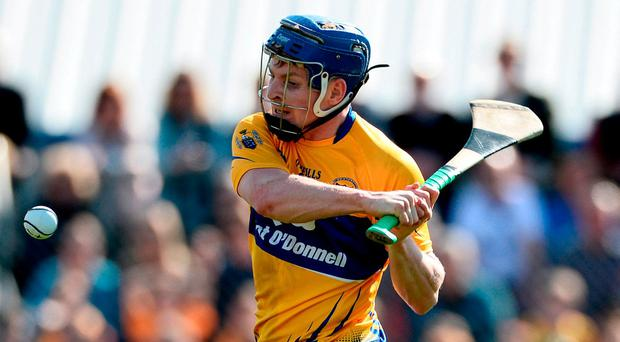 'Lads like Podge Collins (p) and Tony Kelly go deep quite a lot and once Clare get possession, they break in numbers' Photo: Diarmuid Greene/Sportsfile