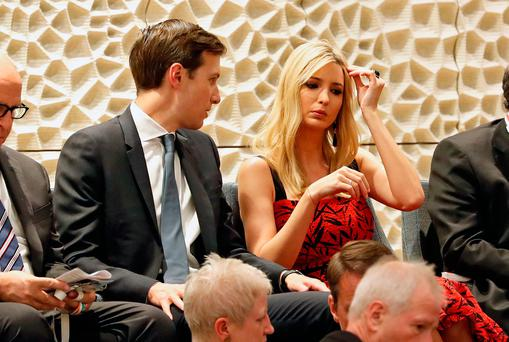 Jared Kushner (L), senior advisor to US President Trump, and his wife Ivanka Trump, daughter and adviser of US President Trump, attend a concert at the Elbphilharmonie philharmonic concert hall on the first day of the G20 economic summit on July 7, 2017 in Hamburg, Germany