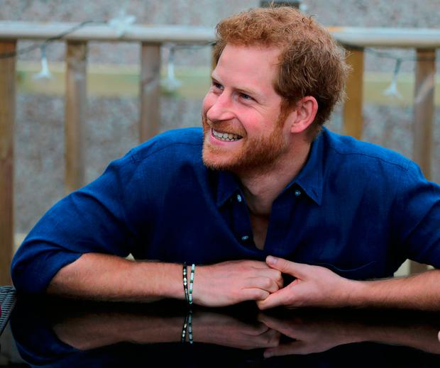 Prince Harry in Bramley on the second day of his visit to Leeds, at the home of Oliver Rooney who has Wolf Hirschhorn Syndrom