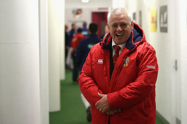Warren Gatland the head coach of the Lions looks on during the third Test match between the New Zealand All Blacks and the British & Irish Lions at Eden Park on July 8, 2017 in Auckland, New Zealand. (Photo by Phil Walter/Getty Images)
