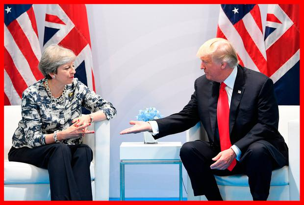 Prime Minister Theresa May holds talks with US President Donald Trump on the margins of the G20 summit in Hamburg Credit: Stefan Rousseau/PA Wire