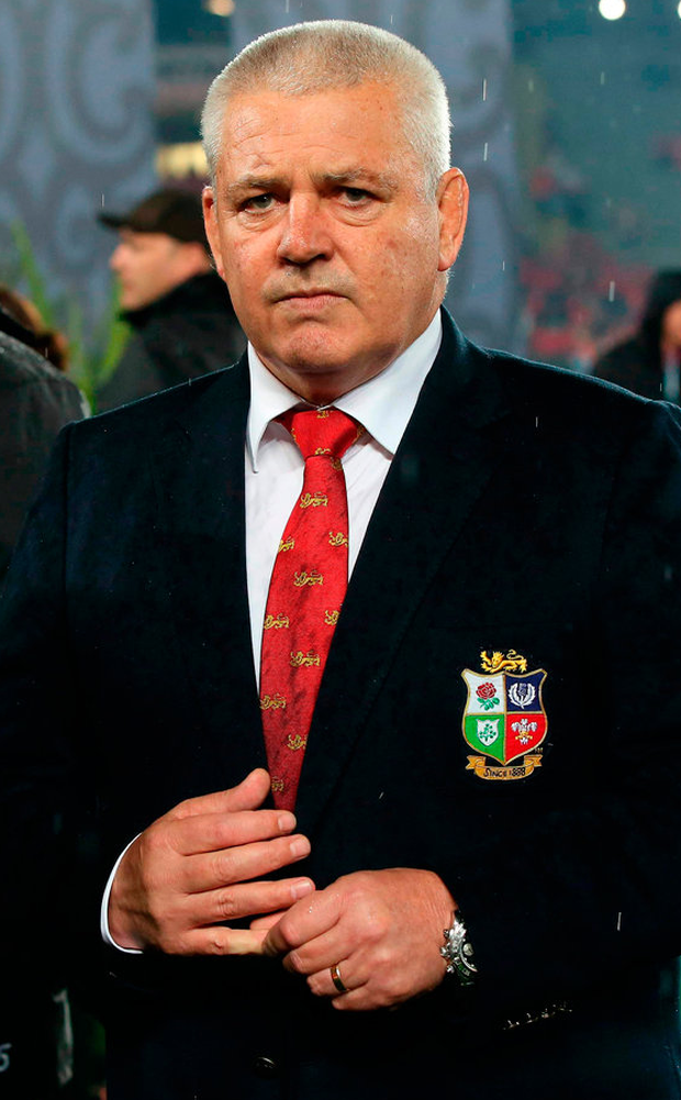 British and Irish Lions coach Warren Gatland after the third rugby union Test match. Photo: Getty Images