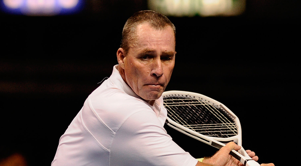 Ivan Lendl (p) and John McEnroe continue their on-court rivalry during a Hong Kong exhibition in 2013 Photo: Getty