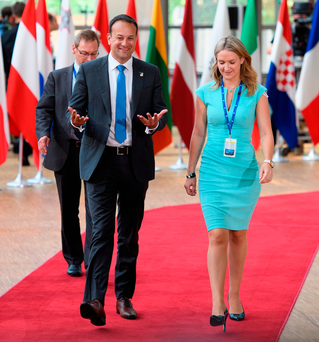 Neighbours: Taoiseach Leo Varadkar at the EU Council headquarters ahead of a European Council meeting in Brussels last month Photo: Leon Neal/Getty Images