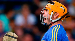 Seamus Callanan celebrates a score on his way to a personal tally of 3-11 against Dublin. Photo: Sportsfile