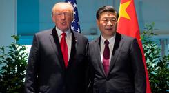 US President Donald Trump and Chinese President Xi Jinping Photo: REUTERS/Saul Loeb