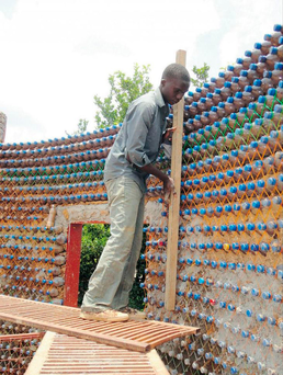 Lots of bottle: Plastics are a new building material